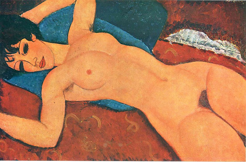 Nu couché (1918) by Amedeo Modigliani